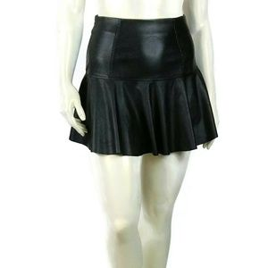 BLANKNYC Fit & Flare Leather Skirt Sz 27